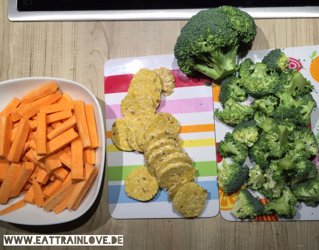 Lupinen-Tempeh-mit-Brokkoli-und-Süßkartoffel-Pommes-Zutaten