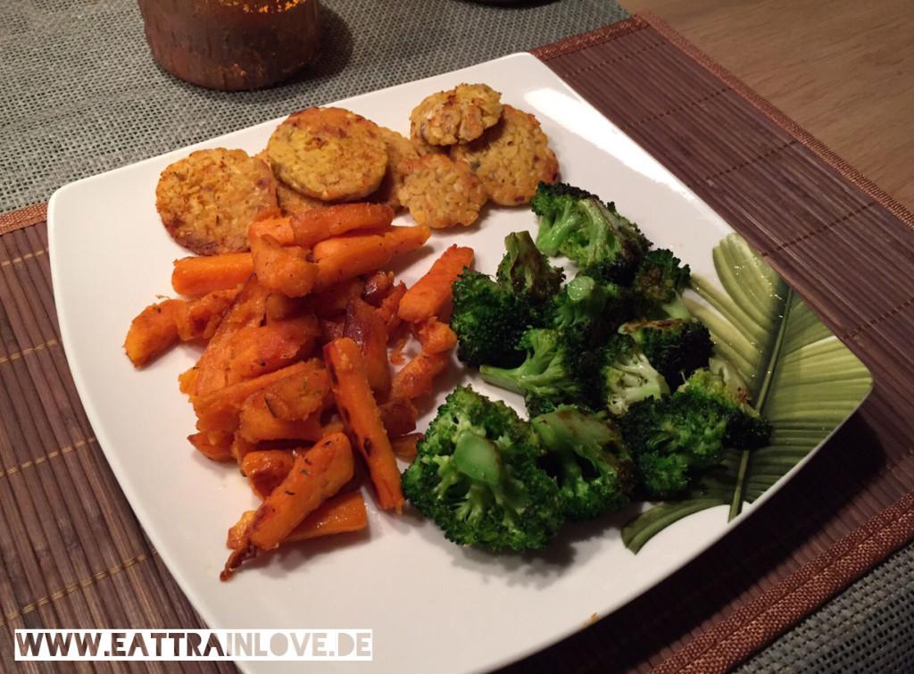 Brokkoli-mit-Süßkartoffel-Pommes