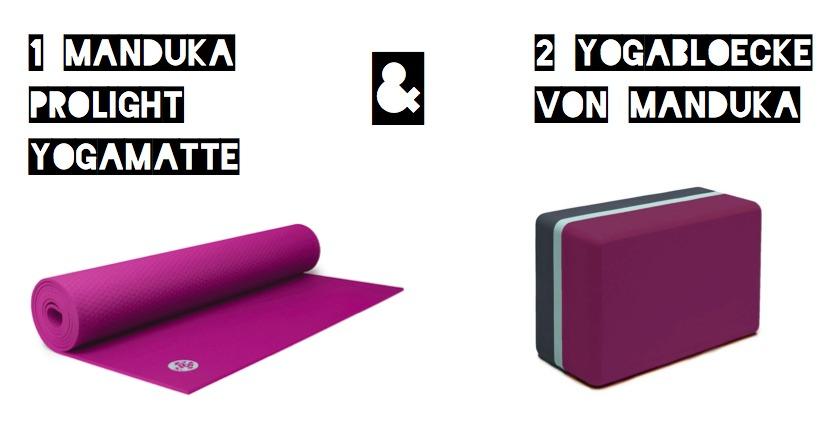 Manduka PorLite Yogamatte und 2 Yogablöcke