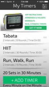 Gymboss Interval Timer, den ich als kostenlose App nutze