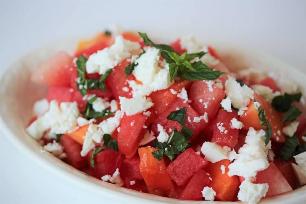 Salat-Rezept-Sommer-Melone-Papaya-Salat