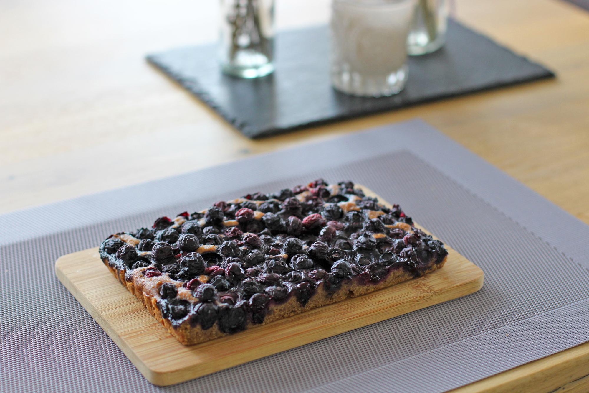 Beerenkuchen-Heidelbeeren