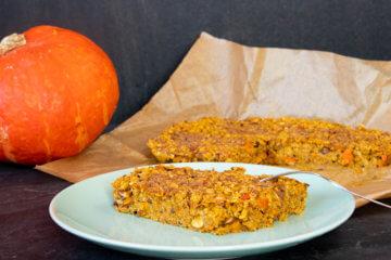 Süßes Kürbisrezept: Gebackenes Kürbis-Oatmeal Rezept vegan Clean Eating Frühstück